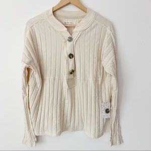 Free People in the Mix Long Sleeve Ivory